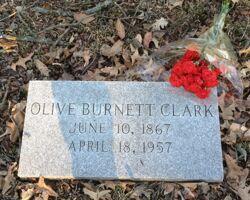 Olive Burnett Clark, Founder Burial Marker