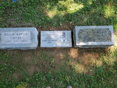Nellie Gamble Childe, Founder Burial Marker