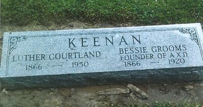 Bessie Grooms Kennan, Founder Burial Marker