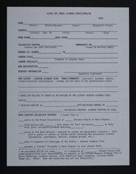 Alpha Chi Omega Alumnae Questionnaire, c. 1989