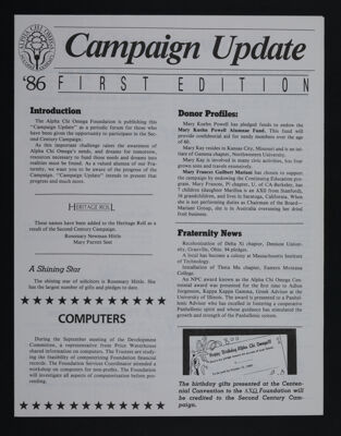 Campaign Update, First Edition, 1986