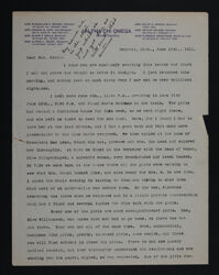 Winifred Mount to Fay Kent Letter, June 15, 1911
