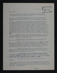 Agnes to Hannah Keenan Letter, May 16, 1944