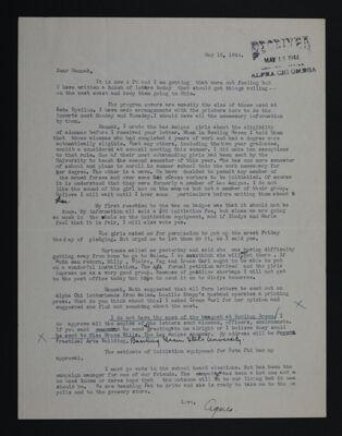Agnes to Hannah Keenan Letter, May 16, 1944