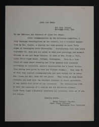 Maude Steiner to Officers and Chapters of Alpha Chi Omega Letter, 1916