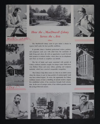 How the MacDowell Colony Serves the Arts Brochure, c. 1960