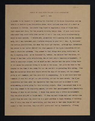 Report on Visit with Epsilon House Corporation, April 7, 1961