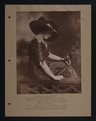 Willie Kate Travis Petitioner Information Sheet, c. 1911