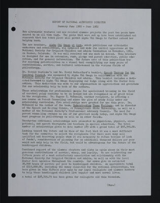 Report of National Altruistic Director, June 1960-June 1962