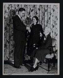 Hannah Keenan Receiving Good Neighbor Award, c. 1938