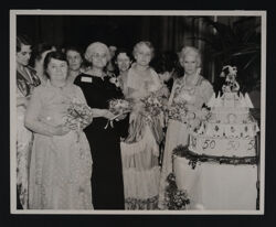 Founders with 50th Birthday Cake at Convention Photograph, June 1935
