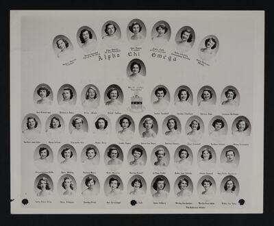 Gamma Iota Chapter Composite Photograph, 1954