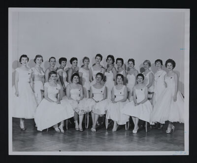 Delta Lambda Chapter Charter Members Photograph, October 31, 1959