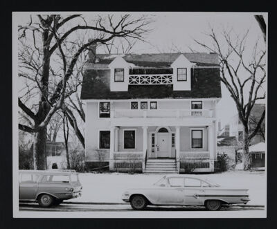 Delta Tau Chapter House in Winter Photograph, c. 1965