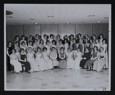 Delta Tau Chapter Charter Members and Colonizers Photograph, April 3, 1965