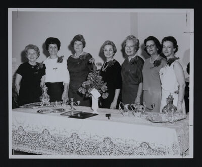 Officers with Delta Tau Chapter Installation Gifts Photograph, April 3, 1965