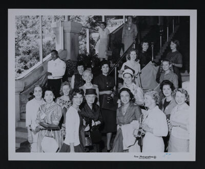 Alpha Chi Omega Members Arriving at Convention Photograph, June 1960