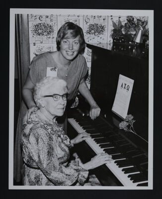 Alice Glaser and Irene Wood at Piano Photograph, c. 1970