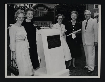 Sutherlin, Jones, Toole, Suppes and Humbert with Temporary Founders Memorial Photograph, June 29, 1960
