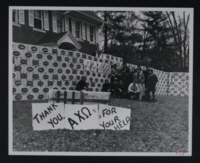 Delta Sigs with Clothing Cartons From Joint Drive Photograph, 1967