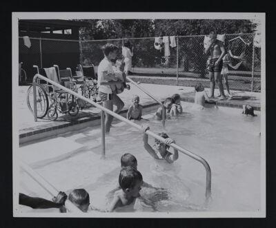 Children Using Pool at Camp Daniel Boone Photograph