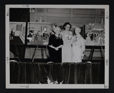 McLachlan, Leonard and Clark with Felt-ogram Scenes at Convention Photograph, 1951