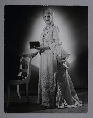 Olive Clark Telling Founding Story at Convention Photograph, June 1953