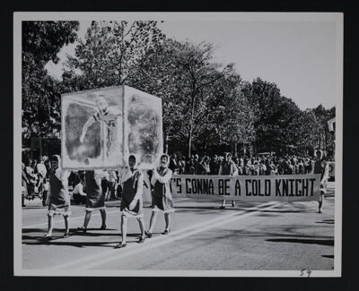 Beta Delta Chapter Homecoming Float Photograph, October 20, 1962