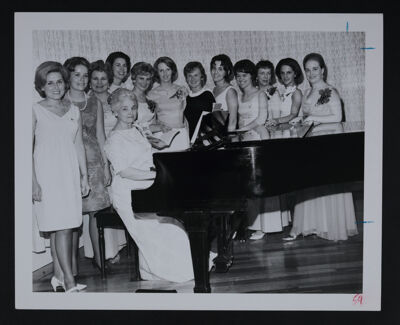 Elthea Turner and Group Around Piano at Convention Photograph, 1966