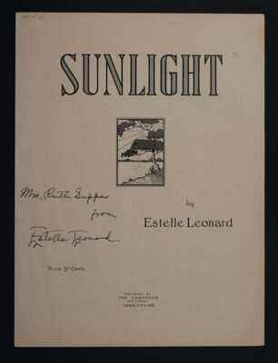 Sunlight Sheet Music, 1942