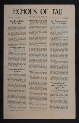 Echoes of Tau, Vol. 6, February 27, 1931