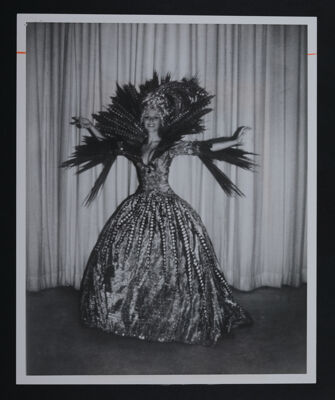Sheila DeWeese in Ice Follies Costume Photograph, 1972
