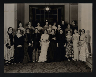 Alpha Delta Chapter Members at Costume Party During Convention Photograph, June 1935