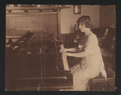 Winifred Byrd Playing Piano Photograph