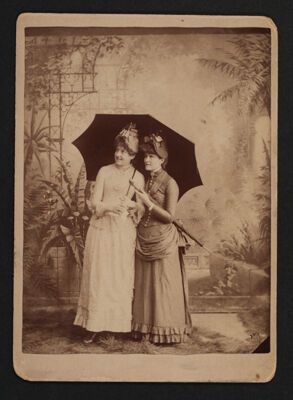 Louise Stuckey and Jennie Garver Flirting in the Park Cabinet Card, June 1887