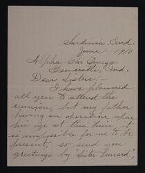 E. Rose Merideth to Sisters Letter, June 1, 1910