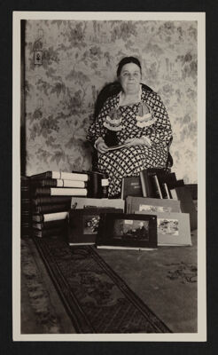 Bertha Cunningham with Books Photograph, December 9, 1934