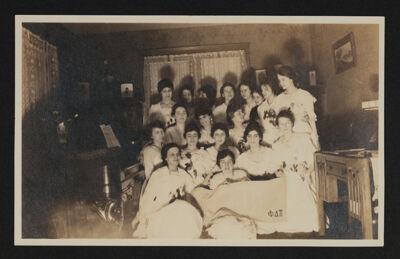 Alpha Eta Chapter Members at Initiation Photograph, c. 1920