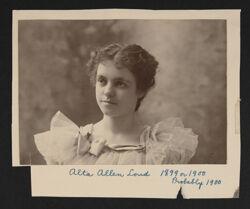 Alta Allen Loud Portrait Photograph, c. 1900