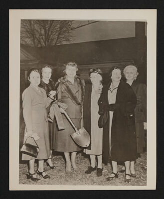 Group of Six at Alpha Chapter House Groundbreaking Photograph, November 1, 1952