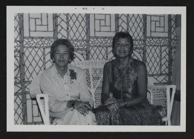 Blanche Denslow and Nina Blakley at Gamma Nu Chapter 25th Anniversary Celebration Photograph, November 1975