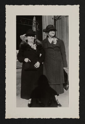 Estelle Leonard and Bertha Cunningham at Convention Photograph, c. June 1937