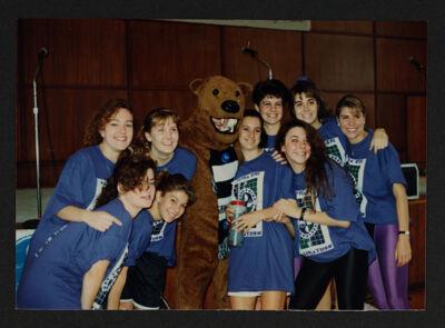Beta Mu Chapter Members at Aerobathon Photograph, Fall 1992