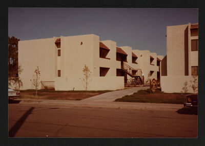 Zeta Pi Chapter Rented Apartment Building Photograph, 1982-83
