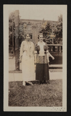 Gretchen Troster and Helen Barnum at Alpha Eta Chapter Installation Photograph, June 11, 1920