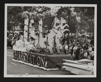 Gamma Mu Chapter Homecoming Float Photograph