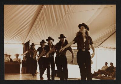 Gamma Upsilon Chapter Members Line Dancing Photograph, 1998