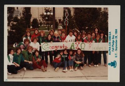 Beta Omega Chapter on Bid Day Photograph, September 28, 1984