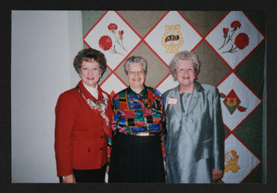 Leonard, Turula and Cochran at Retirement Party Photograph, c. 1990