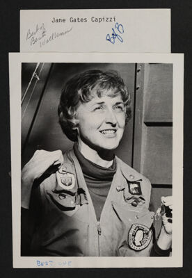 Eleanor (Jane) Capizzi Wearing Izaak Walton League Jacket Photograph